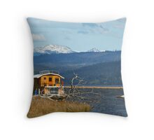Houseboat on the Huon Throw Pillow