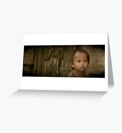 Who takes care of the children? Greeting Card
