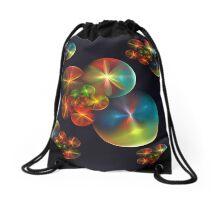 Balloon Flowers Drawstring Bag