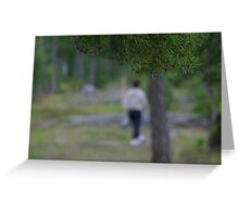 Walking in the forest Greeting Card