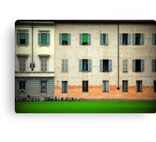 House and bicycles Canvas Print