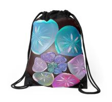 Hearts and Flowers Drawstring Bag