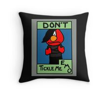 Don't Tickle Me Emo Throw Pillow