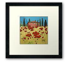 Tuscan Popies 1 Framed Print
