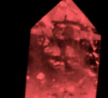 CRYSTAL IMAGES (CAT,EGYPTIAN SPHINX   AND LARGE FACE) MAY BE NATIVE INDIAN ) by mandyemblow