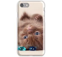 Funny brown kitten iPhone Case/Skin