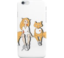 Foxes in love. iPhone Case/Skin
