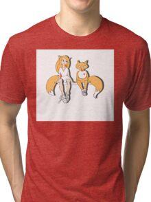 Foxes in love. Tri-blend T-Shirt