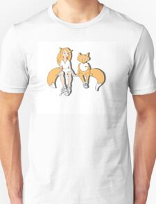 Foxes in love. Unisex T-Shirt