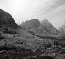 The Three Sisters of Glencoe in Scotland by Linda More