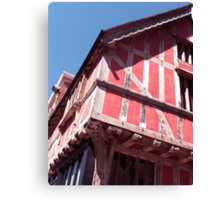 Old Pink House Canvas Print