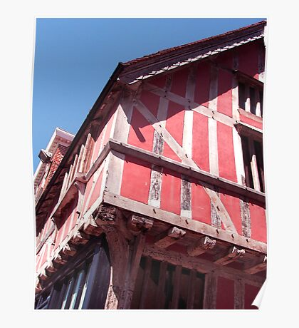Old Pink House Poster