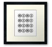 SLR Camera icons Framed Print
