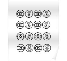 SLR Camera icons Poster