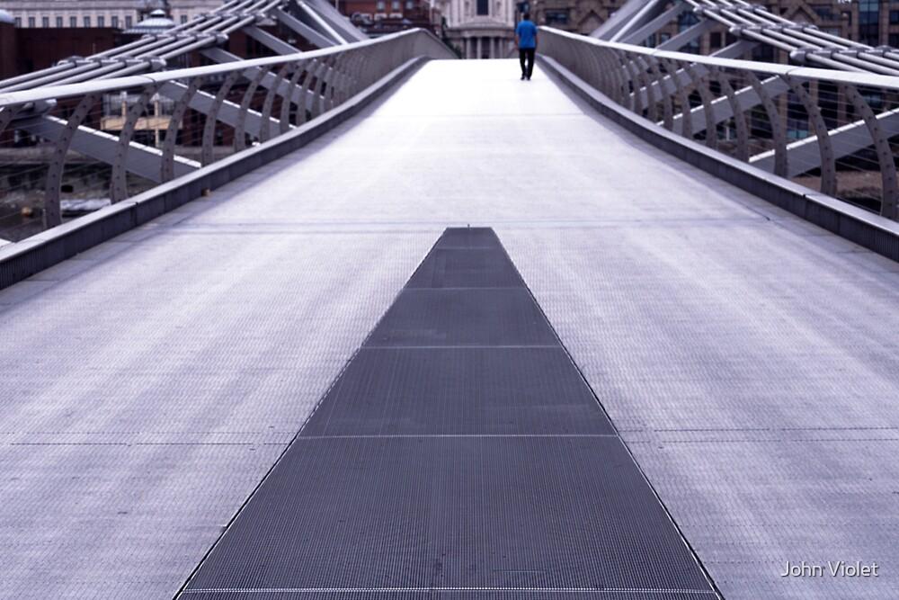 Man on Millenium Bridge by John Violet