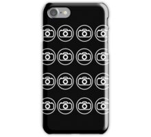 Camera icons white iPhone Case/Skin