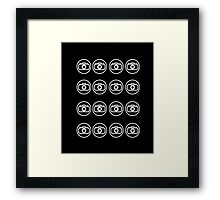 Camera icons white Framed Print