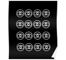 Camera icons white Poster