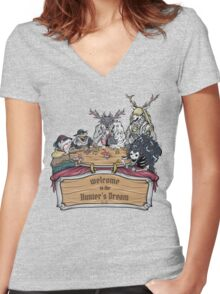 Welcome to the Hunter's Dream Women's Fitted V-Neck T-Shirt