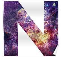 N nebula stars pattern  Poster