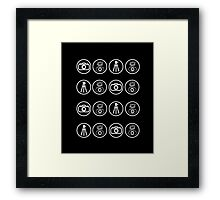 Camera kit icons Framed Print