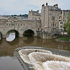 Bath - Pultney Street Bridge and Weir by Erica Morse
