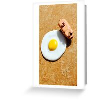 Egg and Bacon Greeting Card