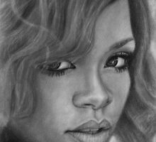 Rihanna Pencil Drawing by daverives
