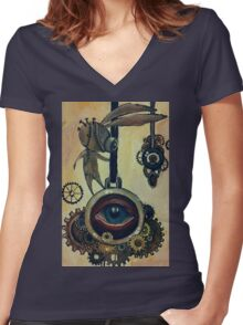 little automaton Women's Fitted V-Neck T-Shirt