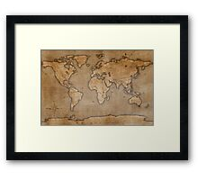 Ancient World Map Framed Print