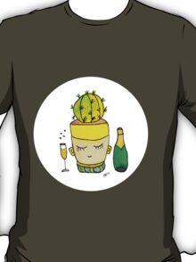 Champagne Charlotte The Drinking Cactus | Emma Watts T-Shirt