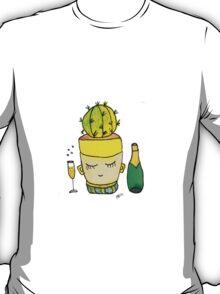 Champagne Charlotte The Drinking Cactus   Emma Watts T-Shirt