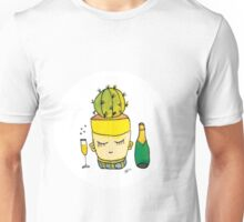 Champagne Charlotte The Drinking Cactus | Emma Watts Unisex T-Shirt