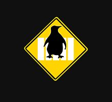 LINUX TUX PENGUIN CROSSING ROAD SIGN Long Sleeve T-Shirt