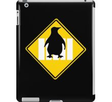 LINUX TUX PENGUIN CROSSING ROAD SIGN iPad Case/Skin