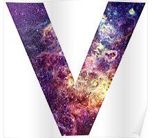 V nebula stars pattern  Poster
