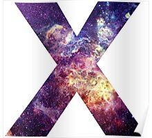 X nebula stars pattern  Poster