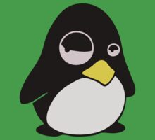 LAZY LINUX TUX PENGUIN Kids Clothes
