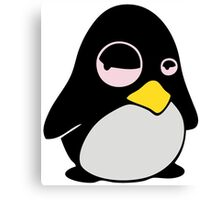 LAZY LINUX TUX PENGUIN Canvas Print