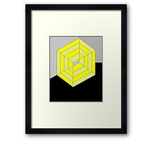 Yellow Cube Framed Print