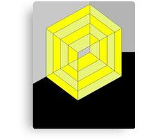 Yellow Cube Canvas Print