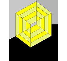 Yellow Cube Photographic Print