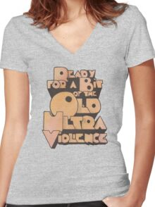 Ultra Violence Women's Fitted V-Neck T-Shirt