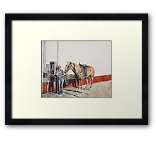 The Levis gal Framed Print