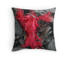 a flaming angel Throw Pillow