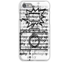 Photography text_camera iPhone Case/Skin