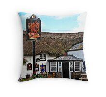 """Old Cornish Pubs"" Throw Pillow"