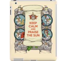 Keep Calm and Praise the Sun iPad Case/Skin