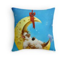 Maaah in the Moon Throw Pillow