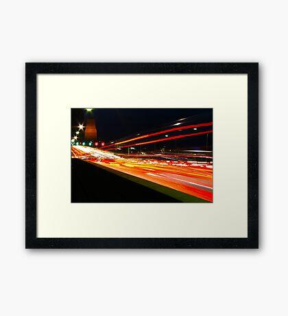 Colouring In - Re-loaded - Sydney Harbour Bridge, Australia  Framed Print